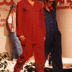 Red and Blue overalls