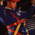 Blue arco coveralls & fall arrest harness