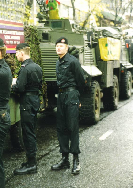 Army guys in Black overalls at Lord Mayor's Show 1998 1