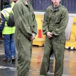 Trainee recruits in olive green overalls at Lord Mayors Show 2012