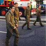 ATC recruit at Lord Mayors show wearing olive green flightsuit