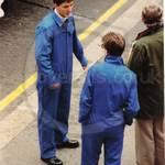 Guys wearing blue overalls at Lord Mayor's Show 1