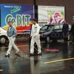 Guys in white overalls at Photokina & CeBit