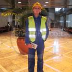 Young Lad in blue coveralls Canary Wharf