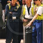 Candid pictures of workmen at Canary Wharf