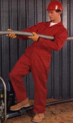 Red Dickies coveralls