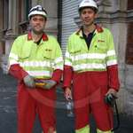 Electrical Engineers Hi-vis Yellow Red Boilersuits