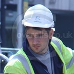 Fit Workman wearing a Blue Boilersuit