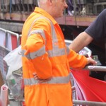 Guy Wearing Orange Hi-vis Boiler Suit