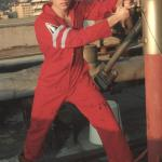 Guys in standard coveralls