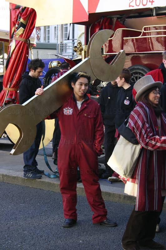 Picture of Engineering students from Imperial College London on float at Lord Mayor's show