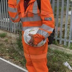 Young lad wearing an Orange ProGARM Boilersuit 12