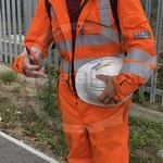 Young lad wearing an Orange ProGARM Boilersuit 5