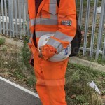 Young lad wearing an Orange ProGARM Boilersuit 6