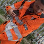 Young lad wearing an Orange ProGARM Boilersuit 9