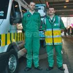 St. John Ambulance lad wearing Green EMS Coverall at Lord Mayor's Show 2001