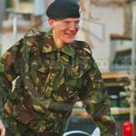 Young Army Cadet Lord Mayors Show wearing DPM kit 2001