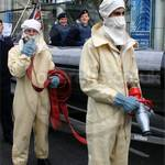 Royal Navy firefighters at Lord Mayors Show
