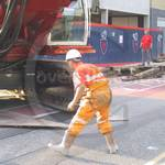 Piling Engineer Orange Hi-vis Coveralls