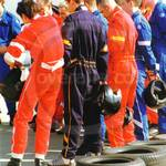 Lads go-karting wearing karting racesuit overalls 1