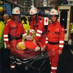 Red Cross team wearing their EMS jumpsuits at Lord Mayor's Show