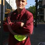 Road Sweeper wearing a Maroon Portwest boilersuit/coverall Part 2