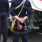 Climbing Instructor wearing Royal Navy General Service Blue Cotton Flame Retardant Coveralls 8405-99-130-5545