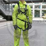 Sewer Worker Hi-Vis Saturn Yellow Waterproof PVC Coverall 2