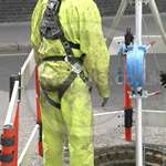 Sewer Worker Hi-Vis Saturn Yellow Waterproof PVC Coverall 4