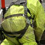 Sewer Worker Hi-Vis Saturn Yellow Waterproof PVC Coverall 7