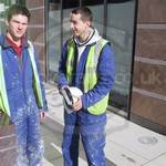Two young guys working at Canary Wharf 7