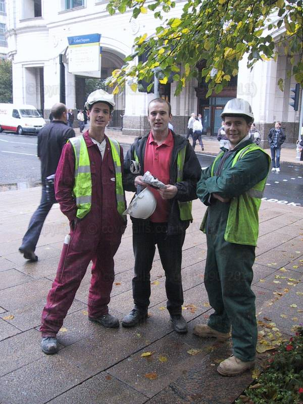 Three lads in workgear #2 10