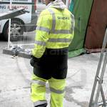 Water Engineer Wearing a new Yellow Grey Hi-vis Phoenix Flame Resistant Coverall