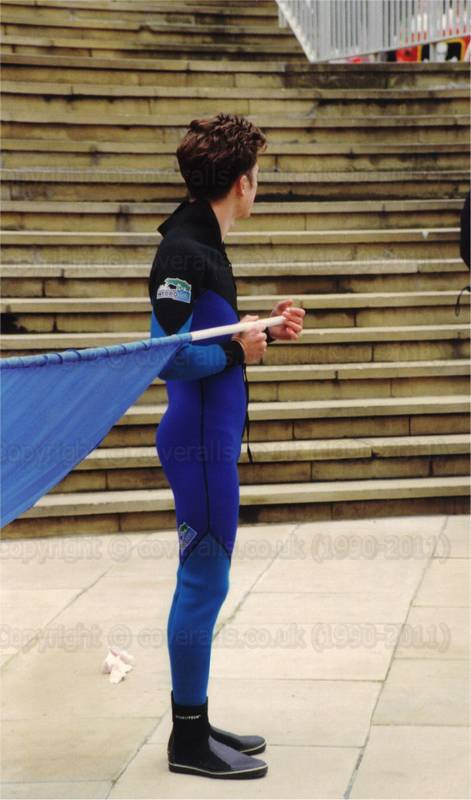 Guys wearing wetsuits at the Lord Mayor's Show 1