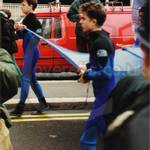 Guys wearing wetsuits at the Lord Mayor's Show