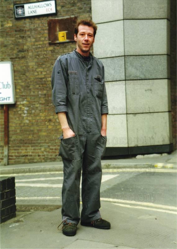 aea33bd03af Workman Grey Boilersuit 4 Workman wearing Grey surplus Boilersuit. Workman  Grey Boilersuit 5