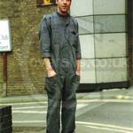 Workman wearing Grey surplus Boilersuit