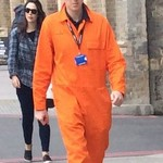Workmen-orange-coveralls
