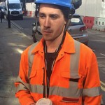 Young Lad Scaffolder wearing Arco Hi-vis Orange Coverall