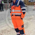 Young Lad Hi-vis Orange Blue Coverall 2